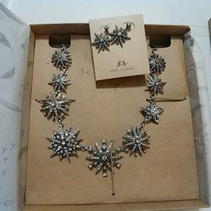 NWT Chloe & Isabel Starburst Earrings & Necklace